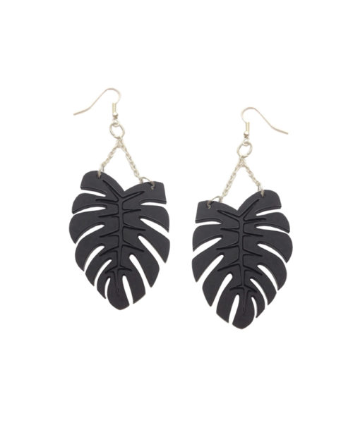 Monstera chandelier earrings