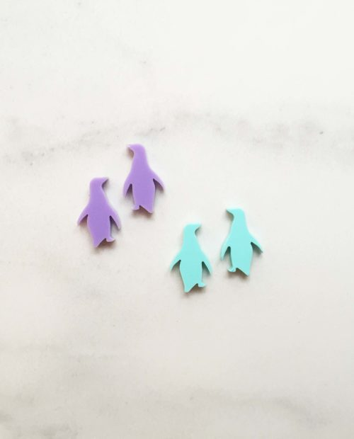 Bozan Penguin earring studs