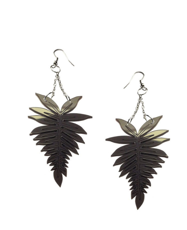 Fern chandelier earrings